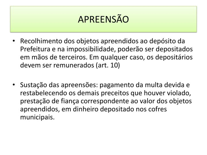 APREENSÃO