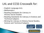 l4l and ccss crosswalk for