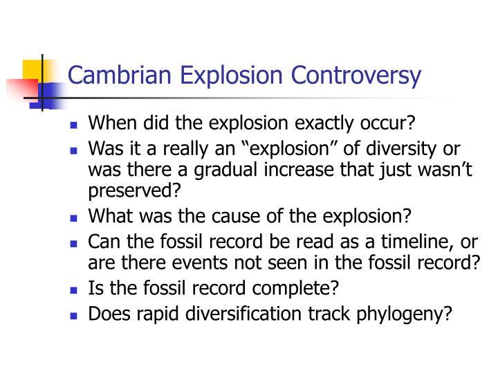 Cambrian explosion controversy