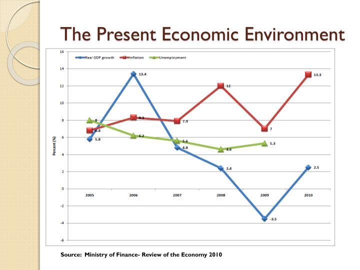 The present economic environment