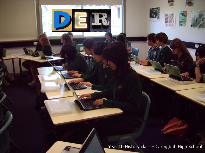 Year 10 History class – Caringbah High School