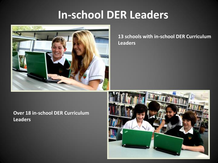 In-school DER Leaders