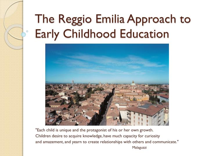 the reggio emilia approach to early childhood education n.