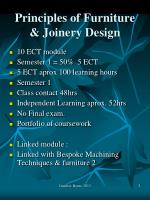 principles of furniture joinery design1