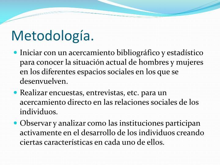 Metodología.