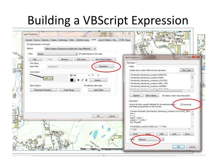 Building a VBScript Expression