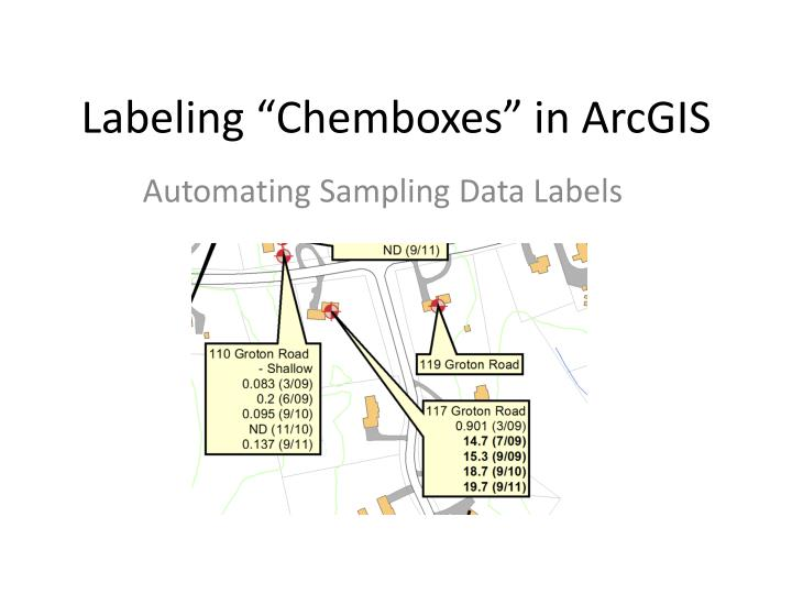 Labeling chemboxes in arcgis