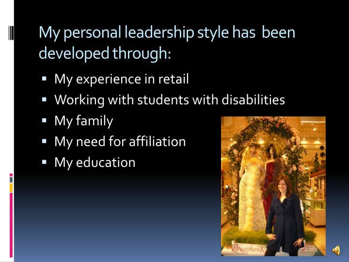 my personal leadership style Leadership style social darwinism - my personal leadership style.