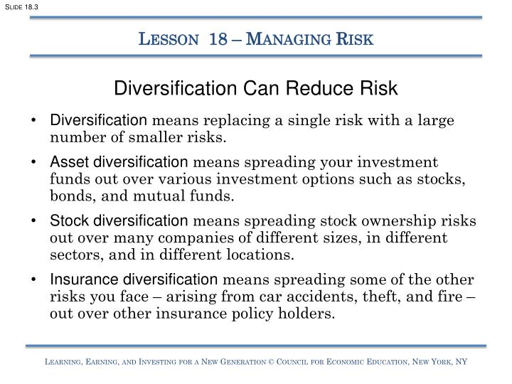to what degree does diversification reduce risk Beginners' guide to asset allocation, diversification,  degree of risk if you intend to purchase securities -  investments to reduce risk is known as.