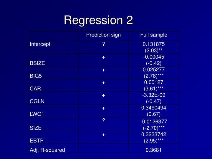 Regression 2