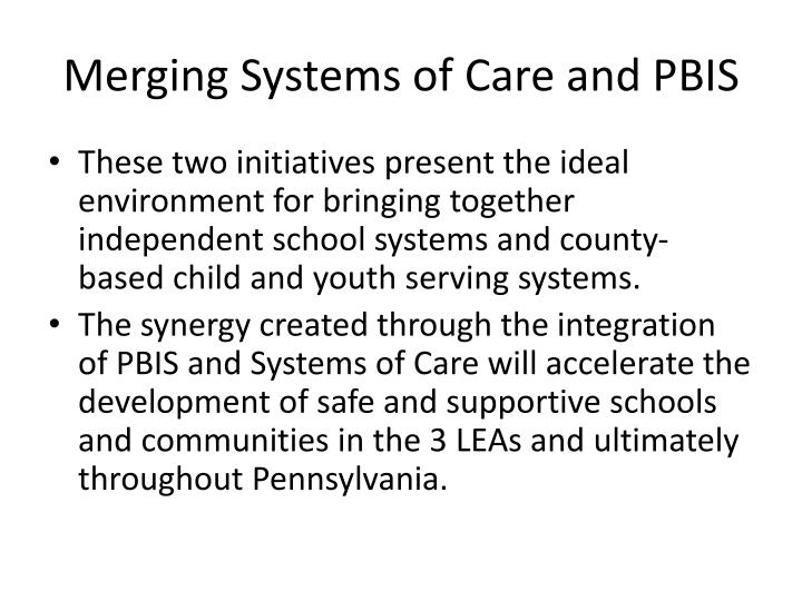 Merging Systems of Care and PBIS