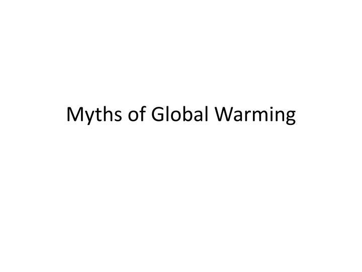 myths of global warming n.