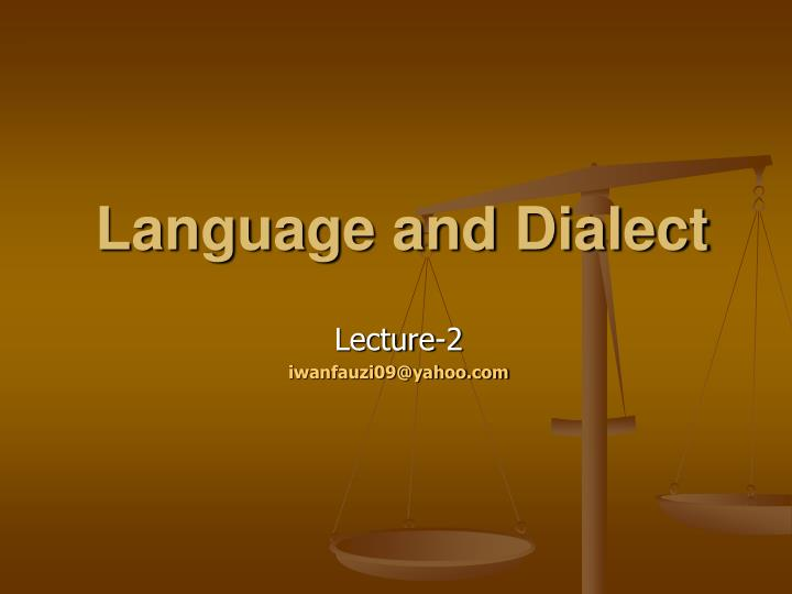 language and dialect n.