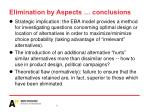 elimination by aspects conclusions