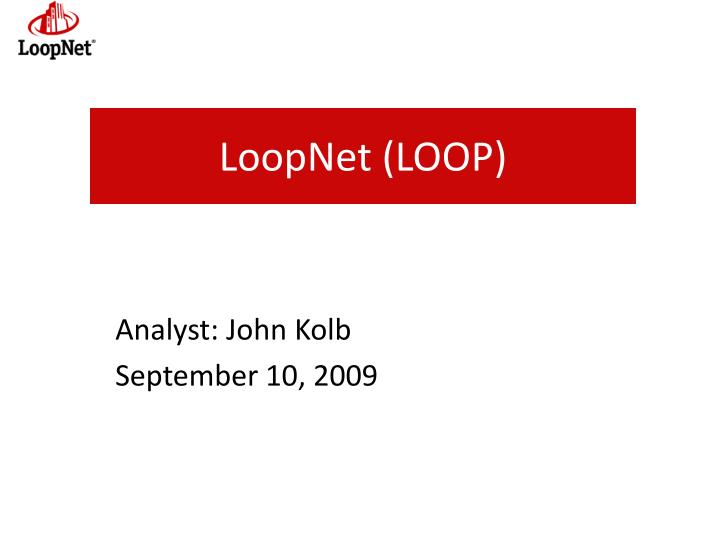 loopnet loop n.