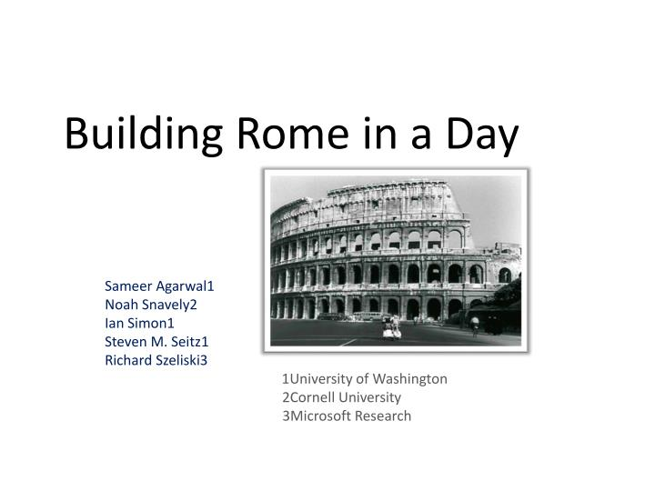 building rome in a day n.