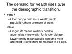 the demand for wealth rises over the demographic transition