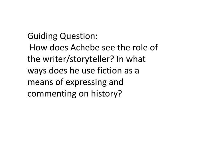 Guiding Question: