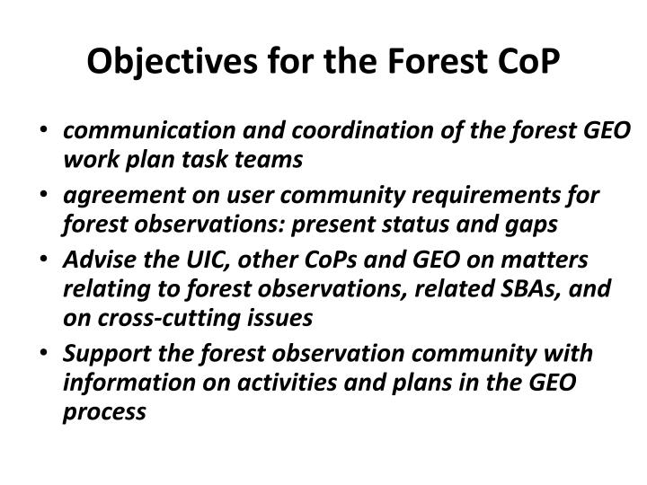 Objectives for the