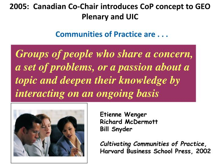 2005:  Canadian Co-Chair introduces