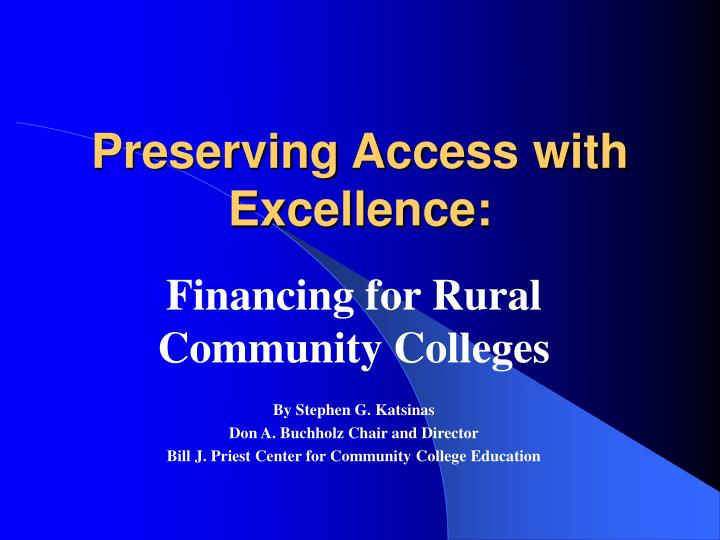 preserving access with excellence n.