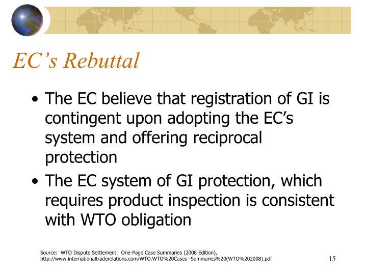 EC's Rebuttal