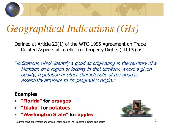 Geographical indications gis