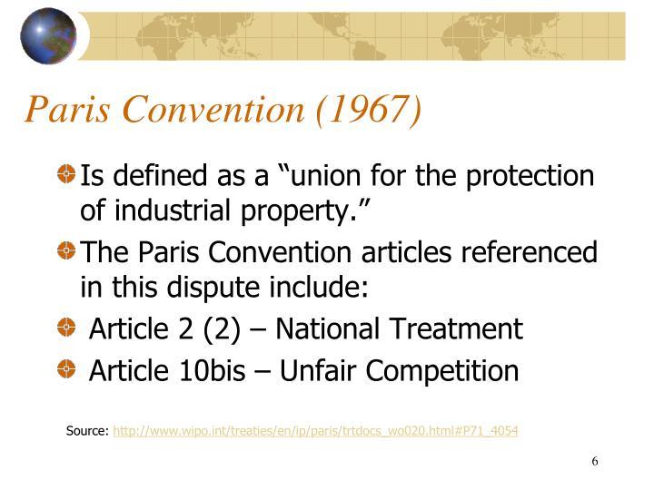 Paris Convention (1967)