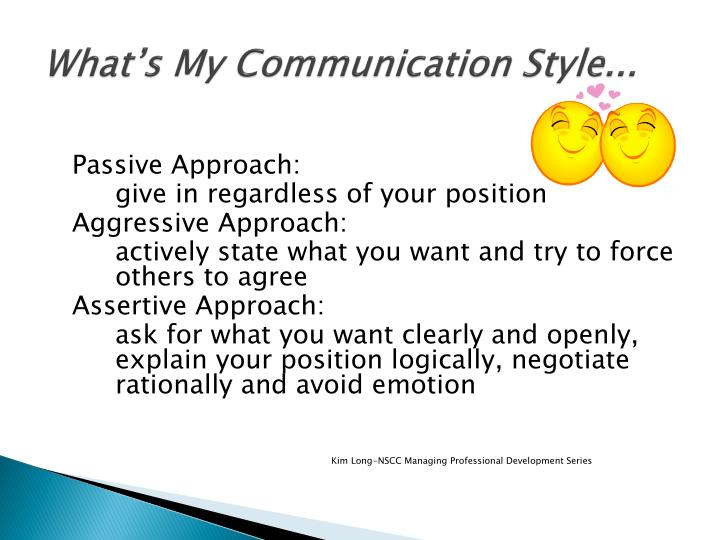 What s my communication style