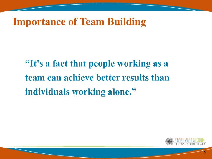 Importance of Team Building
