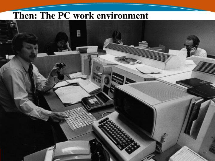 Then: The PC work environment