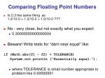 comparing floating point numbers1