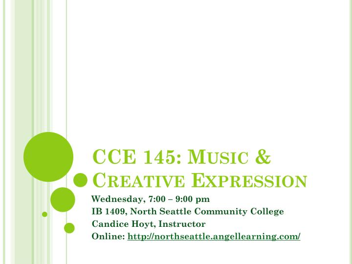 cce 145 music creative expression n.