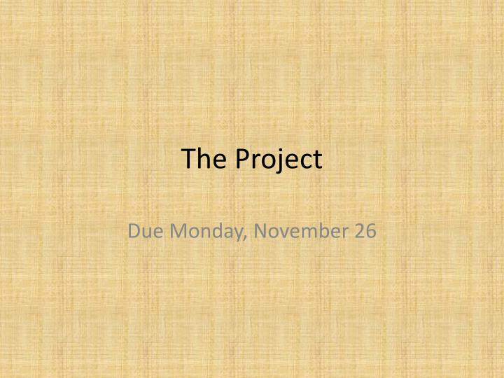 the project n.