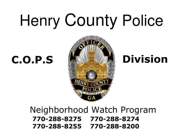 henry county police n.