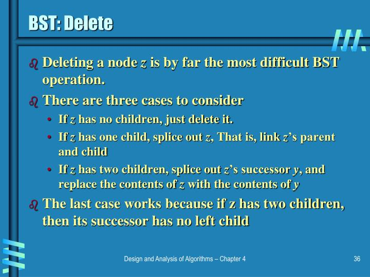 BST: Delete
