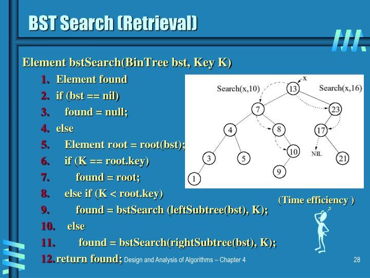 BST Search (Retrieval)