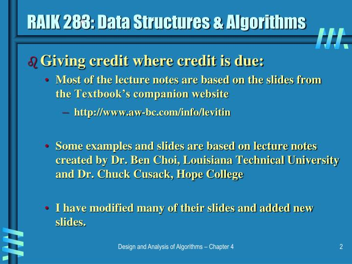 Raik 283 data structures algorithms1