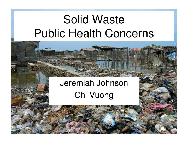 solid waste public health concerns n.