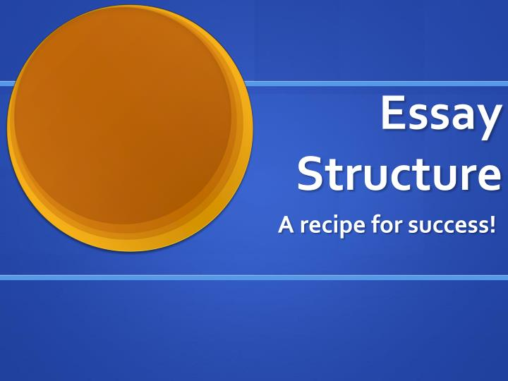 essay structure n.