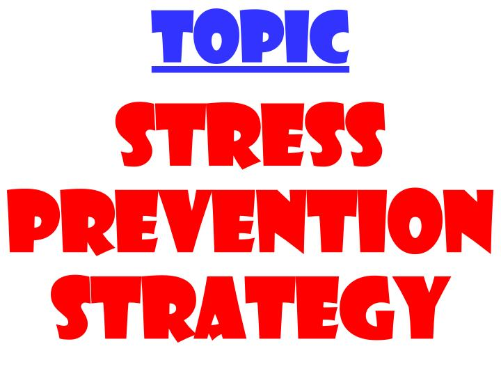 stress preventions
