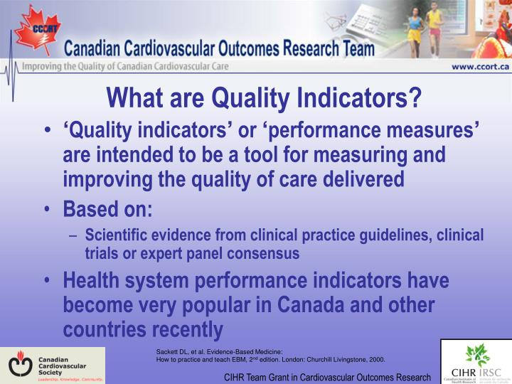 What are Quality Indicators?