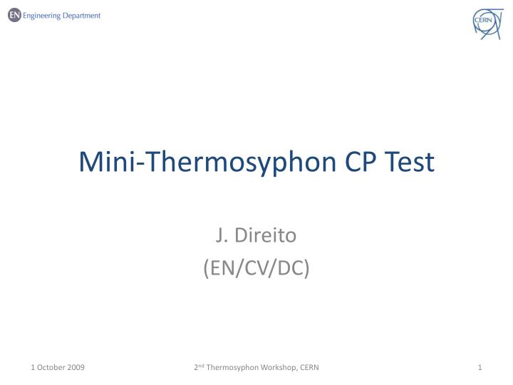 mini thermosyphon cp test n.