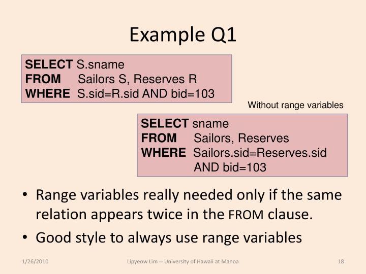 Example Q1