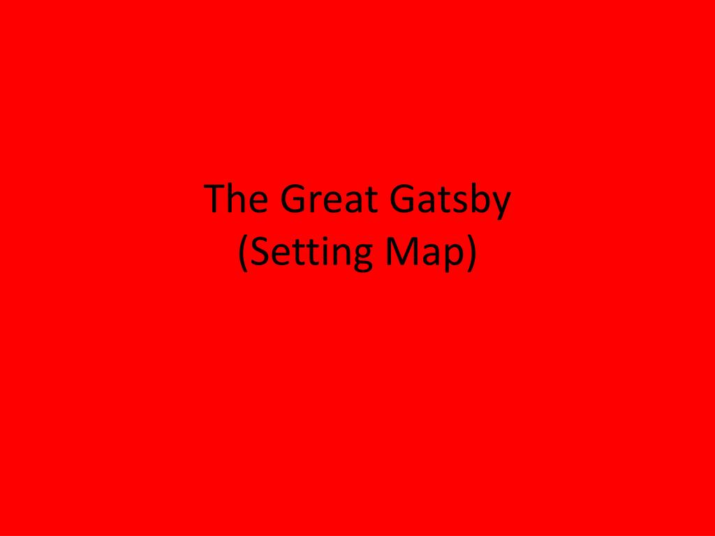 what is the setting for the great gatsby