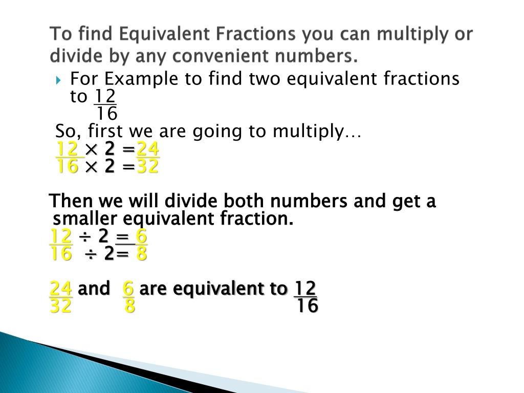simplest form 6/16  PPT - Equivalent Fractions and Lowest Terms PowerPoint ...