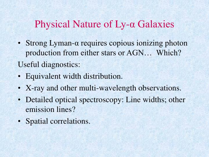 Physical Nature of Ly-