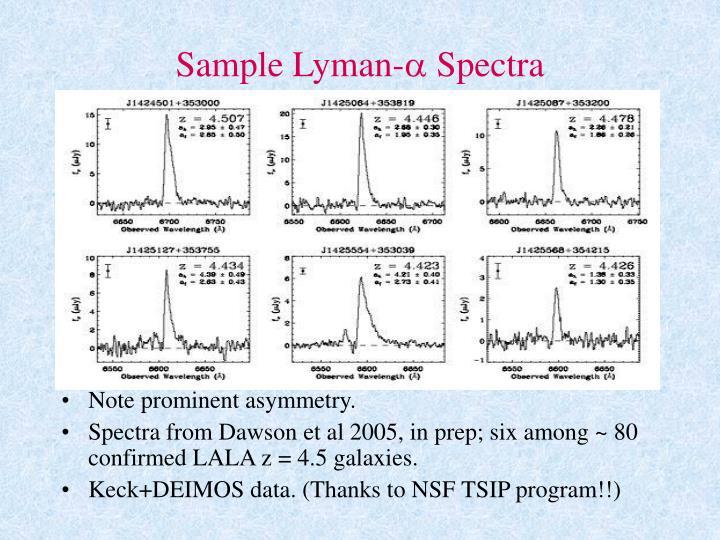 Sample Lyman-