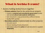 what is serbia forum1