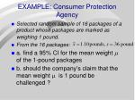 example consumer protection agency